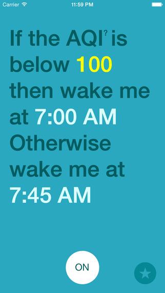 Wake Me Run Run - AQI Alarm Clock