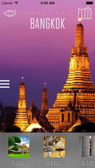 Bangkok Travel Guide with Offline City Street and Metro Maps