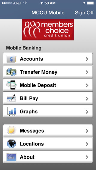 Members Choice CU Mobile Banking (Houston) iPhone Screenshot 1