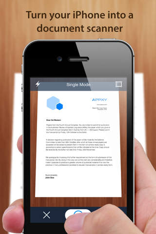 Tiny Scanner - PDF scanner to scan document, receipt & fax screenshot 1