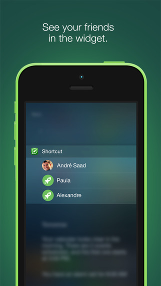 Shortcut - WhatsApp Edition Talking with your friends in 3 gestures