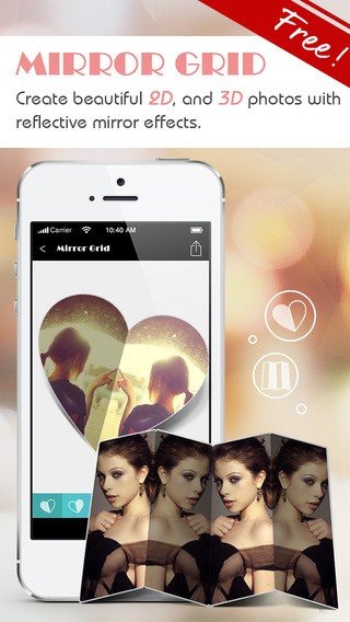 Mirror Grid-reflection photo collage maker photo editor filter editor