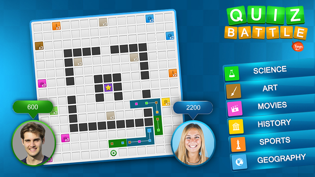 Quiz Battle - Play with Your Friends the Trivia Board Game for TANGO