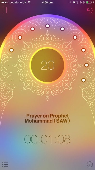iSubha: Islamic Prayer Beads iPhone Screenshot 2