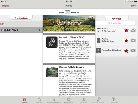 Gallo Gateway for iPad