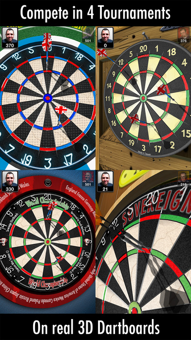 Bulls i 3D Darts iPhone Screenshot 2