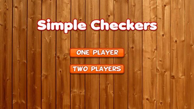 Simple Checkers Game