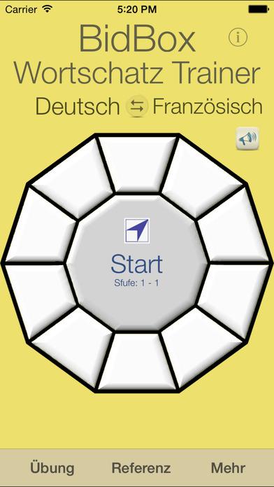 Vocabulary Trainer: German - French iPhone Screenshot 1