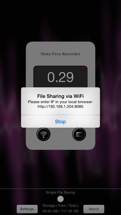 Mute-Free Recorder iPhone Screenshot 2