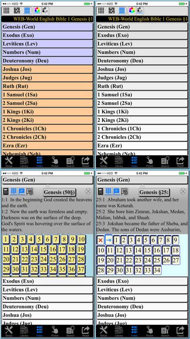 Bible WEB (World English Bible) iPhone Screenshot 2