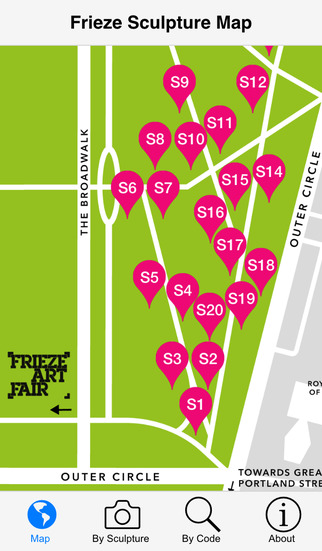 Frieze Sculpture Guide by the Art Fund