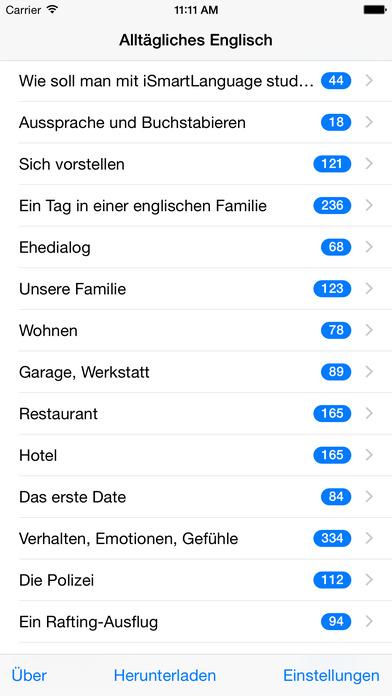 Alltägliches Englisch iPhone Screenshot 1