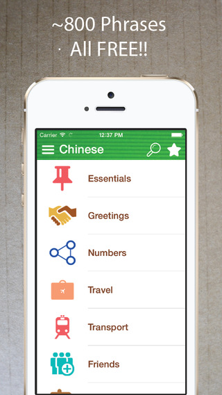 Learn Chinese - Phrasebook for Travel ・Study ・ Business - free offline language words phrases vocabu