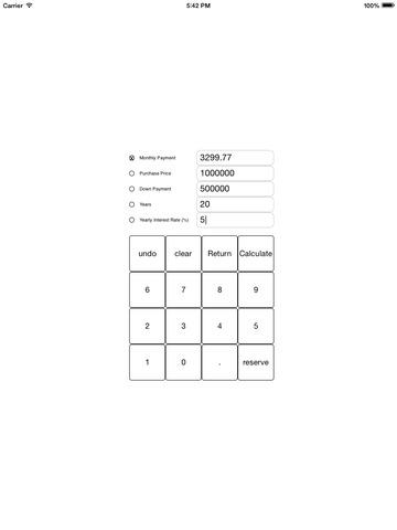 Loan Calculator - free loan and mortgage calculator for iPad