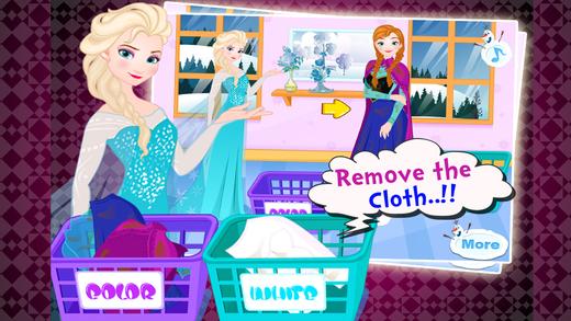 Princess Washing Clothes - Dress Up Games