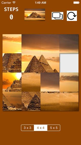 Sliding Puzzle World Wonders