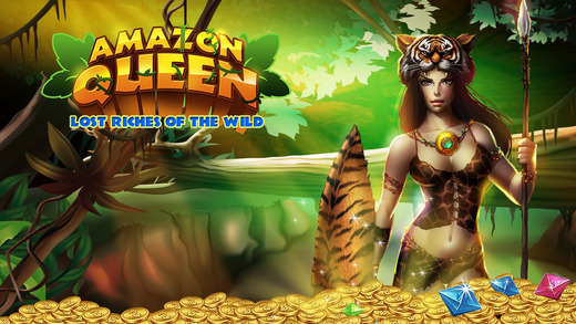 Slots Amazon Queen: Lost Riches of the Wild - PRO Aussie Pokies 777 Slot-Machine Game