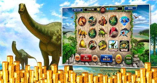 Jurassic Casino - Free Slots Machine - Vegas Pokies featuring Jackpots Volcano