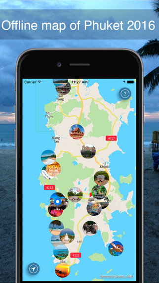 Phuket 2016 — an offline map featuring Phuket's most interesting places