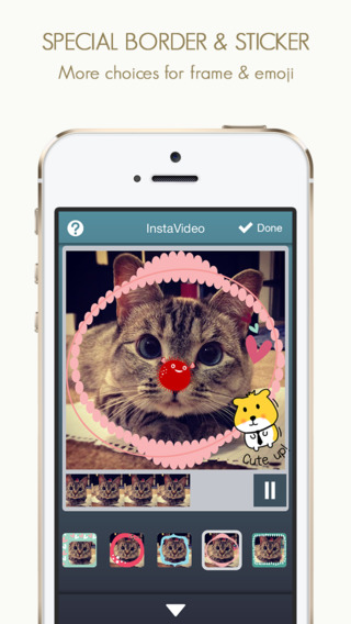 InstaVideo Pro - Add Sticker frame effects and background music to your videos