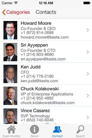 Screenshot of Keste