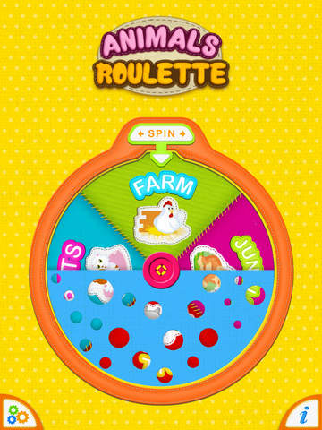 Animals Roulette PRO - Sounds and Noises for Kids.screeshot 1