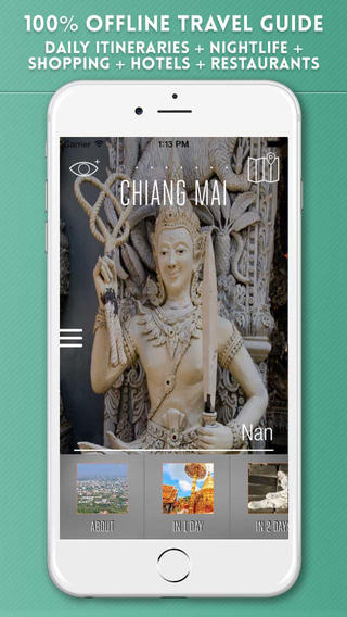 Chiang Mai Travel Guide with Offline City Street and Metro Maps