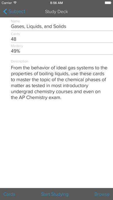 AP Chemistry Preparation, powered by Brainscape Apps free for iPhone/iPad screenshot