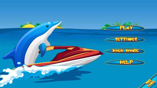 Dolphin Jet Skier Run - Fun Wave Surfer Rider Paid