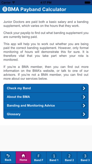 BMA Junior Doctors' Payband Calculator