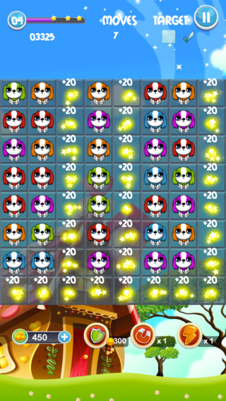 Juicy Pet Mania - Match 3 game with cute puppies