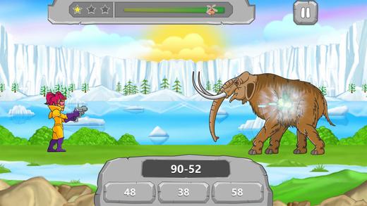 Cool Math Caveman : Math vs dinosaurs addition subtraction multiplication