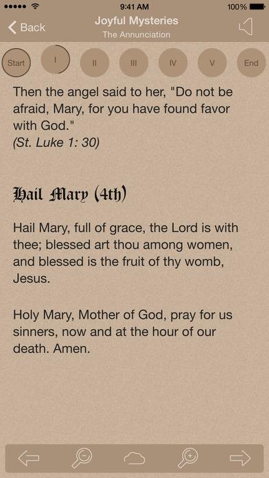 Scriptural Rosary iPhone Screenshot 2