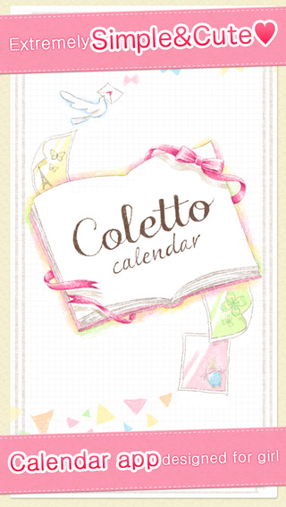Cute calendar - Simple and fashionable planner Coletto Calendar - The popular application to manage