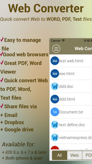 Web Converter - Quick convert Web to Word PDF Text