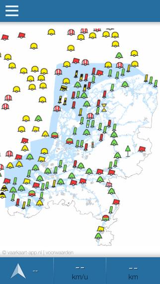 Vaarkaart Nederland