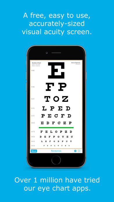 Eye Chart HD iPhone Screenshot 1
