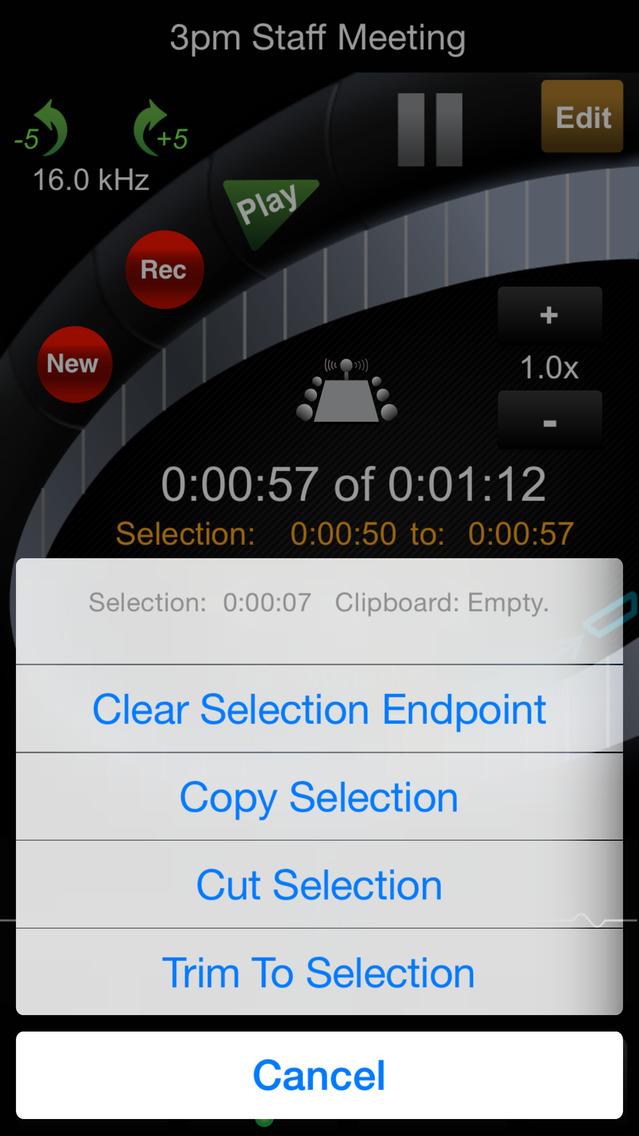 HT Professional Recorder screenshot 3