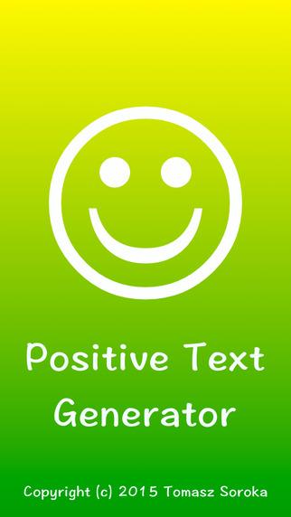 Positive Text Generator