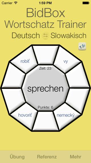 Vocabulary Trainer: German - Slovak iPhone Screenshot 3