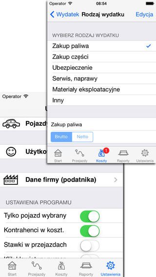 Ewidencja Przebiegu Pojazdu Lite iPhone Screenshot 3