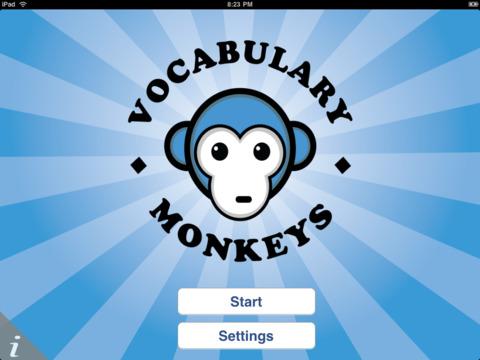 Vocabulary Monkeys iPad Screenshot 1