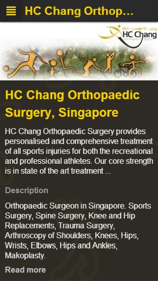 HC Chang Orthopaedic Surgery App