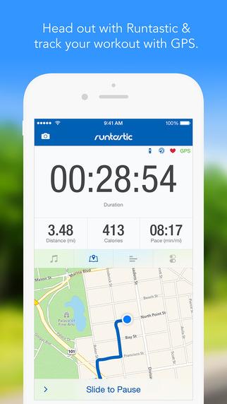 Runtastic PRO GPS Running Walking Jogging Fitness Distance Tracker and Marathon Training