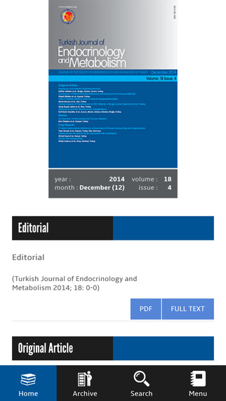 TJEM - The Turkish Journal of Endocrinology and Metabolism