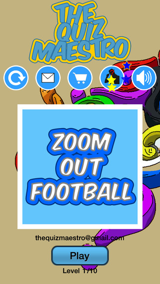 Zoom Out American Football Game Quiz Maestro - Close Up Player Simulation Word Trivia