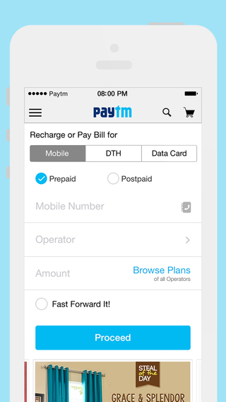 Mobile DTH Recharge Shopping