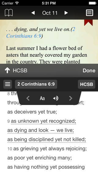 Streams in the Desert Devotional iPhone Screenshot 2