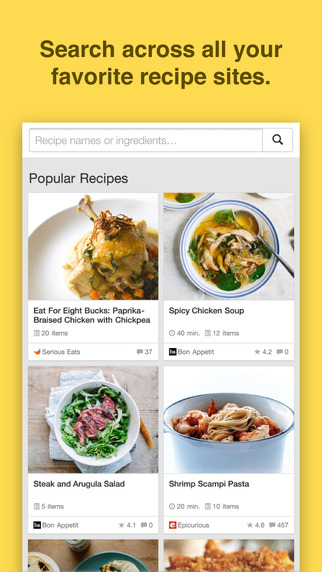 Chefnote Recipe Grocery Shopping List