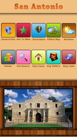 San Antonio Offline Map Tour Guide